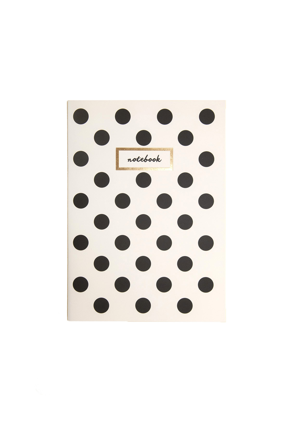 A5 Polka Dot Gold // Notebook
