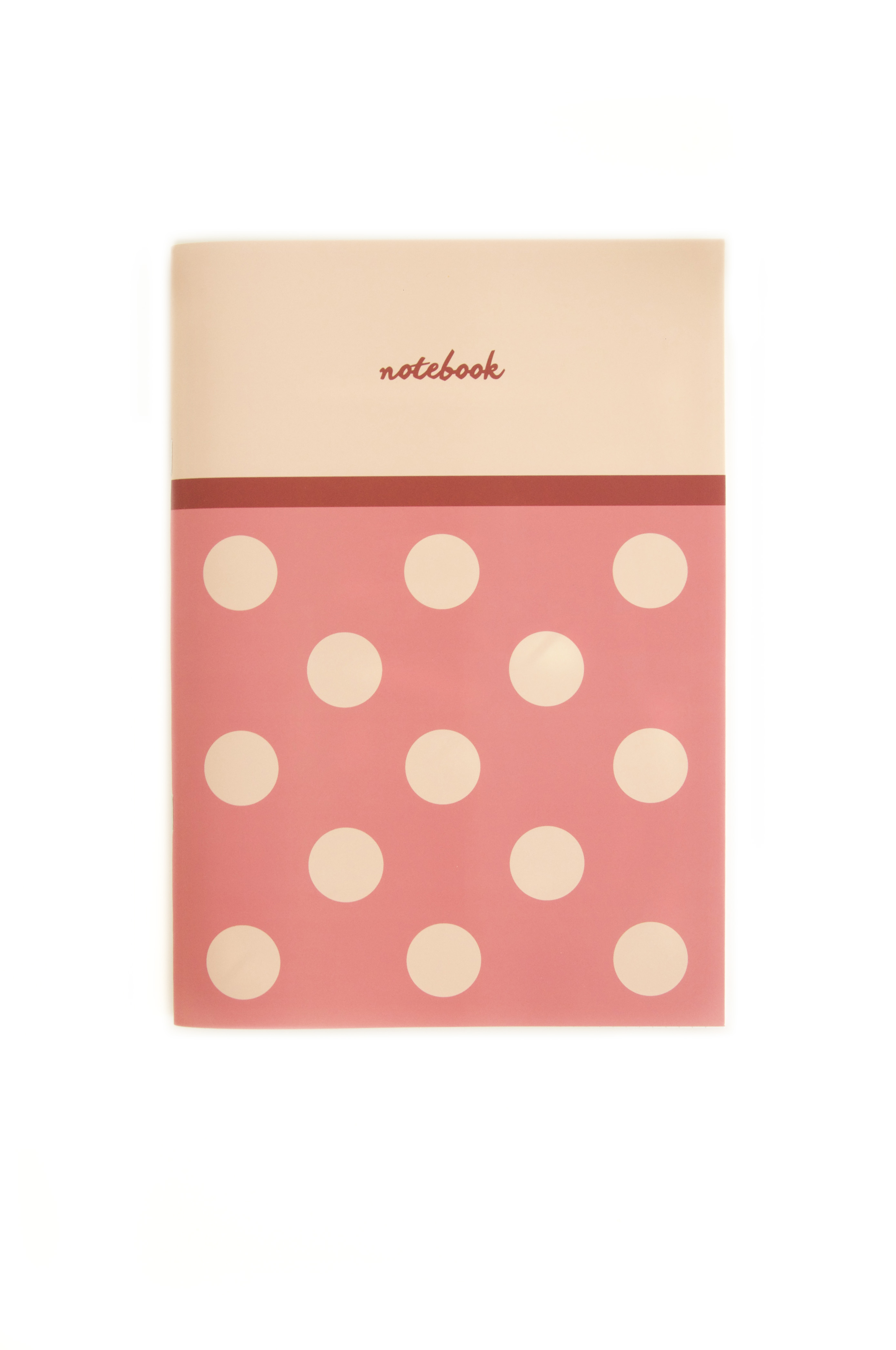 Big Polka Dots // A4 Lined Notebook