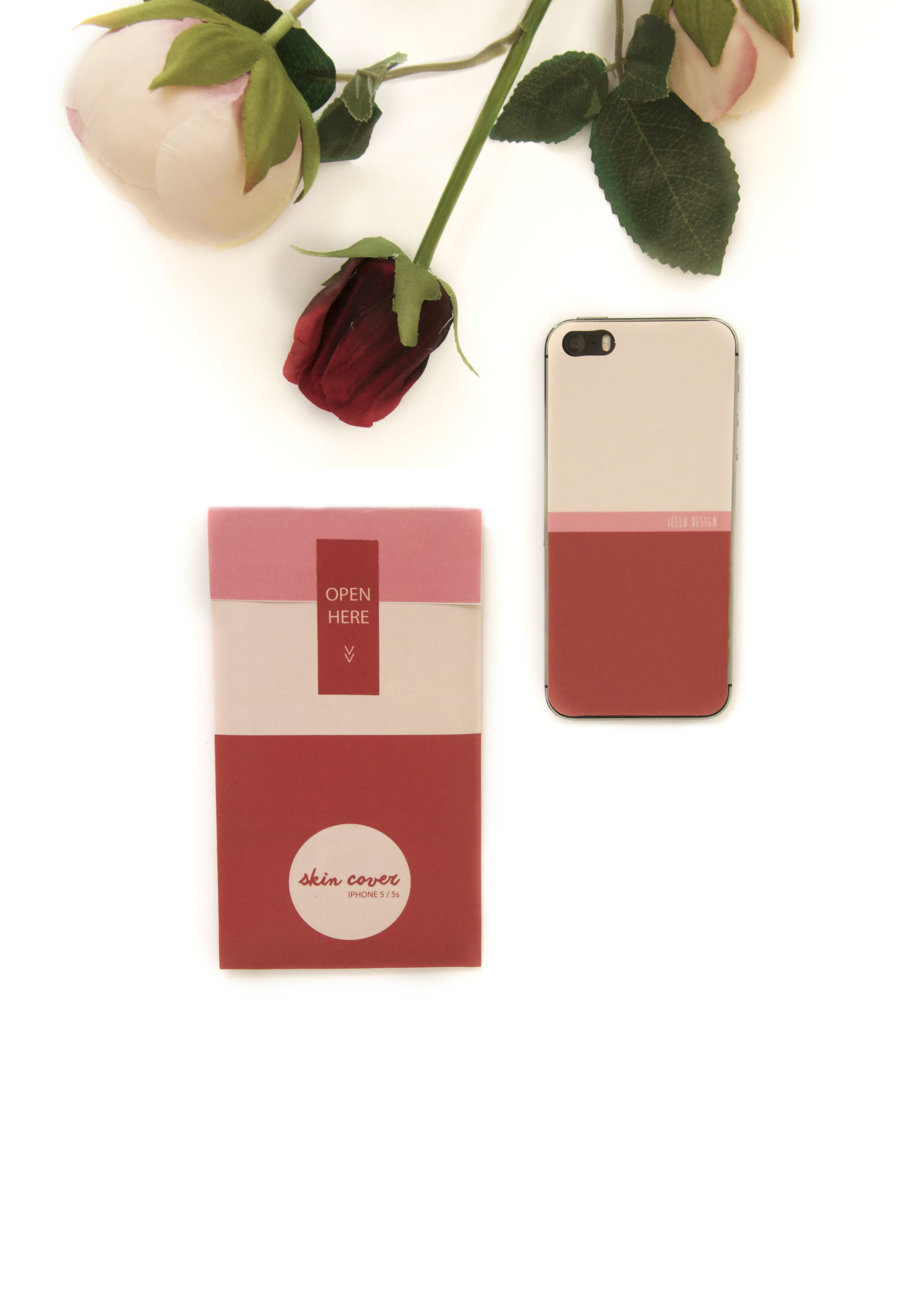 Rosa E Burgundy // Skin Per Iphone 5/5s