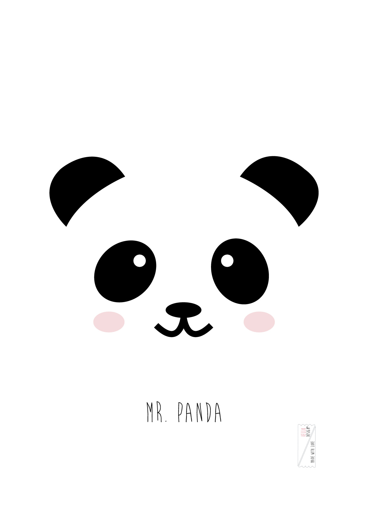 Mr. Panda // Print For Frames | Iello Design - Made with Love